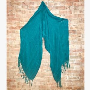 Urban Outfitters 💙 Turquoise Gauze Scarf