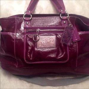 Coach Poppy leather satchel.