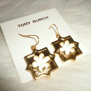 Tory burch geo star dangling earrings