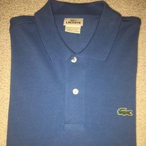 Lacoste marine blue long sleeve polo