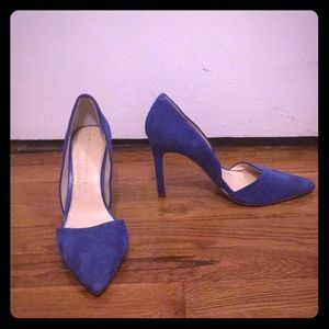 Orsay suede blue heels size 6.5