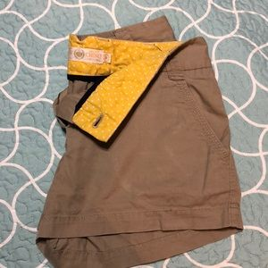 JCrew chino tan shorts