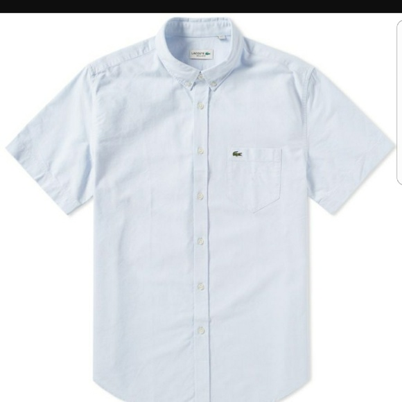 1cc30e26ab5b Lacoste Other - Men Lacoste Powder Blue button down linen size 46