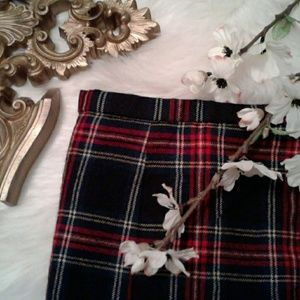 Christmas Holiday 16 Wool Plaid Skirt