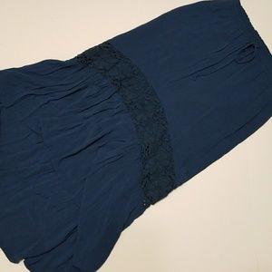 Aeropostale blue high low skirt