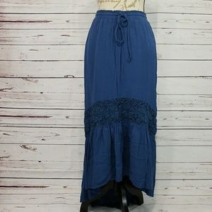 Aeropostale blue high low skirt
