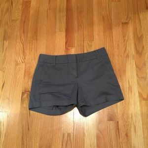 J. Crew Dark Gray J. Crew Chino Shorts, Size 2