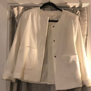H&M double breasted pocket blazer