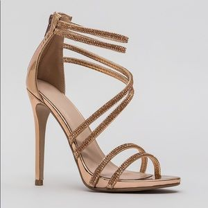 Rose Gold Patent Heels