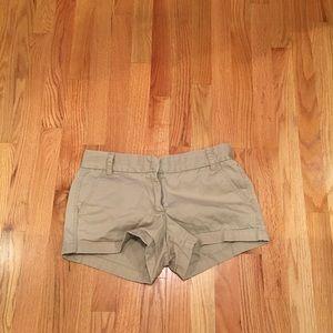 J. Crew Khaki Chino Shorts, Size 4