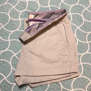 J. Crew chino tan shorts