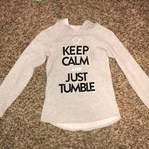 Keep calm and just tumble  justice hoodie!