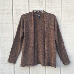 Eileen Fisher merino wool brown cardigan, PM