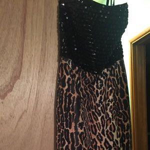 Sherri Hill leopard print sample gown