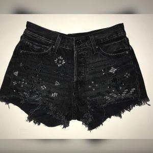 LEVI'S Black Shorts embellishments
