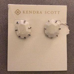 Kendra Scott Morgan Stud Earrings in White