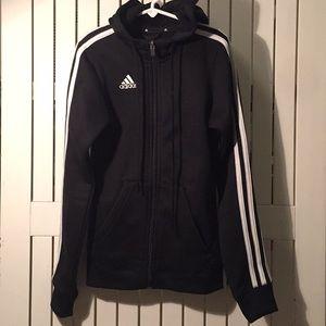 Girl's zip-up hoodie jacket.