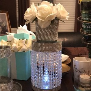 Glass Chandler with top glass flower holder