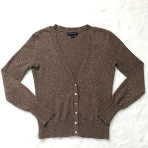 Banana Republic Brown and Gold Sparkle Cardigan