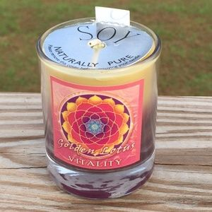 Vitality Golden Lotus Soy Candle - Essential Oils