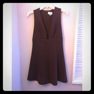 Aritzia plunge burgundy dress size 2