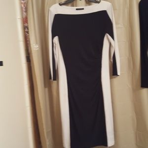 Stunning Black and white Dress. Size 14