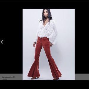 Free People Velvet Corduroy Stretch Flare Jean 31