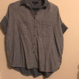 Madewell Striped Chambray Top