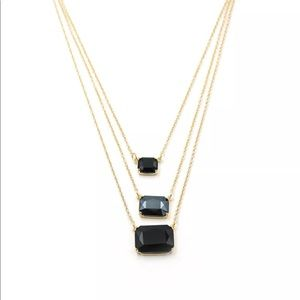 Kate Spade Triple layer crystal necklace