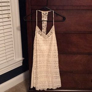 Abercrombie and Fitch trapeze lace & chiffon dress