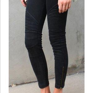 Black wishlist apparel Moto jeans
