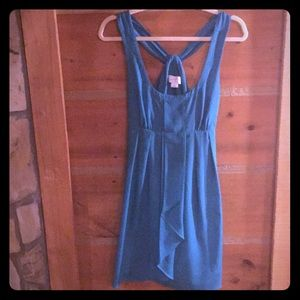 Jessica Simpson Criss Cross Back Dress Turquoise