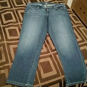 Loft modern cuffed crop jeans