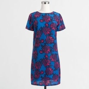 J. Crew Blue Floral Gallery Dress 0P
