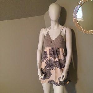 Maaji crocheted top halter mini dress Medium