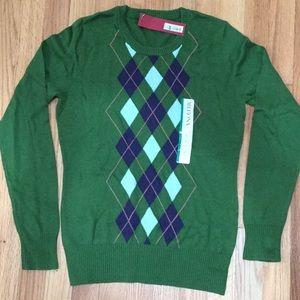 NWT Merona Argyle Sweater in Loden Green