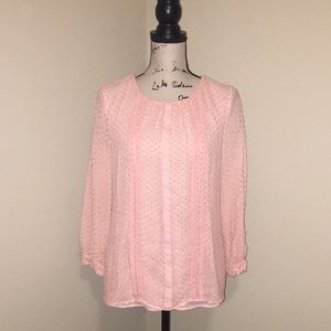 Light pink J. Crew 3/4 sleeve blouse