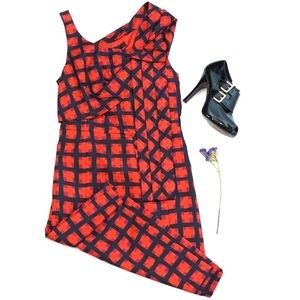 Marc by Marc Jacobs Red Check Silk Dress