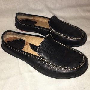 🦃Born black slide on leather mule loafers 7 W3743
