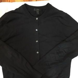 Like New J Crew jackie Cardigan, Sz L in Black