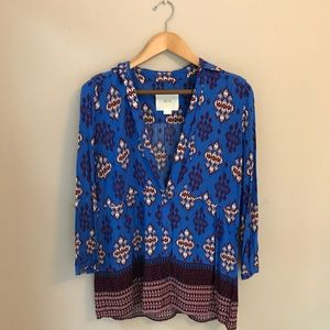 Patterned blouse by Maeve for Anthropologie