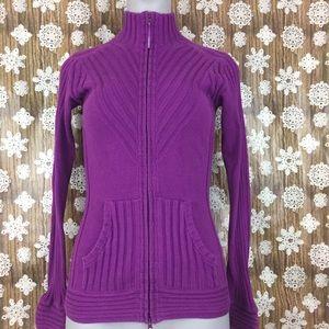 Athleta double zipper sweater