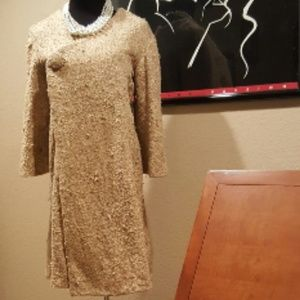Jackets & Blazers - Vintage 60s Old Hollywood Silk Boucle Swing Coat