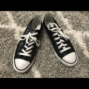 Black Glitter Converse