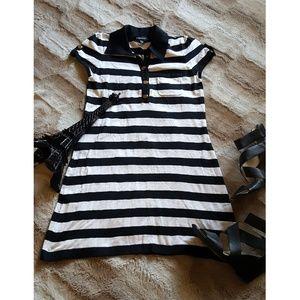 BEBE mini striped dress