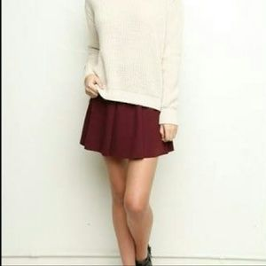 Brandy Melville Jacy Skirt Burgandy