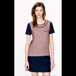 Jcrew Tweed Front Shirt