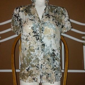 East 5th Ruffle Front Blouse.