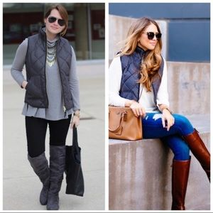 NWT J. Crew Gray Excursion Quilted Puffer Vest