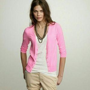J.CREW lightweight pink cardidan